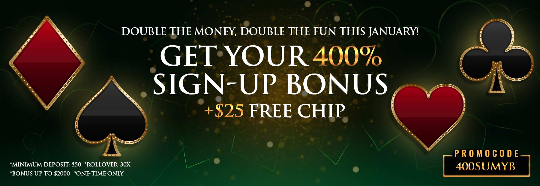 400% Sign-Up Bonus